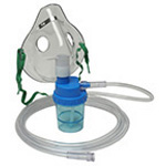 O2 Nebulizer, Adult, Mask, Tubing, 7-ft