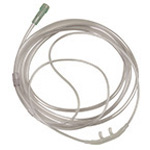 O2 Nasal Cannula, Adult, Flared, with Tubing, 7-ft