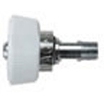Oxygen Inlet Fitting, DISS Female Hand Tight x 1 1/2inch Stem, 1/8 NPT Male