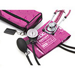 Pro's Combo II SR, Pocket Aneroid/Sprague Kit, Breast Cancer Awareness Pink, Adult, Size 23 to 40 cm