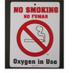 Sign, No Smoking, Plastic, 6inch x 8inch