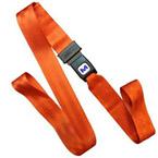 Strap, Nylon, Metal Push Button Buckle, 7 foot, 1 Piece, Orange