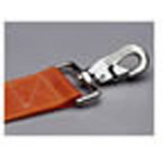 Straps, Nylon, Metal Push Button Buckle, Metal Swivel Speed Clips, 7 foot, 2 Piece, Orange