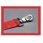 Straps, Nylon, Metal Push Button Buckle, Metal Swivel Speed Clips, 7 foot, 2 Piece, Red
