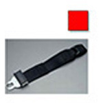 Extension Strap, Auto Metal Female on 1 End and Auto Metal Male on the Other End, 3 foot, Red