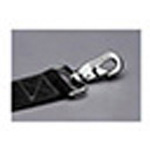 Straps, Nylon, Plastic Side Release Buckle, Metal Swivel Speed Clips, 5 foot, 2 Piece, Black