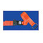 Straps, Patho-Shield, Metal Push Button Buckle, Loop-Lok Ends, 5 foot, 2 Piece, Orange