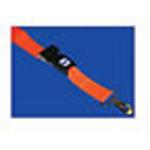 Straps, Patho-Shield, Metal Push Button Buckle, Metal Swivel Speed Clips, 5 foot, 2 Piece, Orange