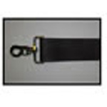 Straps, Polyester Vinyl, Metal Push Button Buckle, Metal Swivel Speed Clips, 5 foot, 2 Piece, Black