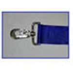 Straps, Polyester Vinyl, Metal Push Button Buckle, Metal Swivel Speed Clips, 5 foot, 2 Piece, Blue