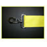 Straps, Polyester Vinyl, Metal Push Button Buckle, Metal Swivel Speed Clips, 5 foot, 2 Piece, Yellow