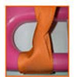 Straps, Polyester Vinyl, Plastic Side Release Buckle, Loop-Lok Ends, 7 foot, 2 Piece, Orange