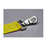 Straps, Polypropylene, Plastic Side Release Buckle, Swivel Speed Clip, 5 foot, 2 Piece, Yellow