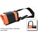 Traction Ankle Hitch, Adj, Wraps Around Ankle w/Velcro Closure Padded, Vinyl, Orange