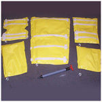 The EMS ECONO-VAC Vacuum extremity splint set, incl Splints, Adapter, Pump, Case