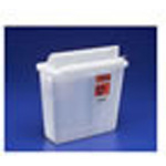 *Limited Quantity* In-Room Sharps Container, with Mailbox-Style Lid, Clear, 5 Quart