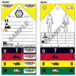 Mettag Triage Tags, with 30inch Elastic Band