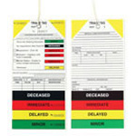 California Decontamination Medical Triage Tags, 400/Box