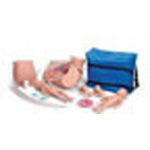 Advanced Childbirth Simulator, Vinyl Skin, w/2 Fetal Babies and Placentas, Spare Stomach Cover