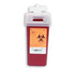 *Limited Quantity* Sharps Container, Small, Red/Black, 3 1/2inch x 7inch x 3 1/2inch, 1 Quart