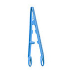 Disposable Splinter Forceps, Flat Rounded-Tip, Blue