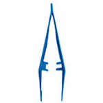 Disposable Tweezer Forceps, 5in, Blue