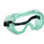 Safesplash Safety Goggle w/Clear Lens And Green Frame