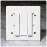 Universal Wall Plate, with Holes for Suction Canister
