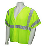 ANSI Class 3 Deluxe Safety Vest, XL/XXL, Lime *Discontinued*