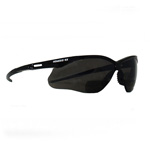 Nemesis Safety Glasses, Black Frame / Smoke Mirror Lens