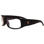 Elite Safety Glasses, Anti-Fog Lense, Black Frame / Clear Lense