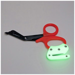 Rip Shears, Glow in the Dark Ripper on Orange Handle w/Metal Blades