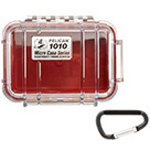 *Discontinued* Pelican 1010 Micro Case, Red with Clear Top