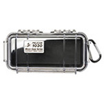 Pelican 1030 Micro Case, 6.37 inch x 2.62 inch x 2.06 inch, Clear w/Black Liner