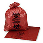 Medi-Pak ULTRA-TUFF Red Infectious Waste Bags, 11inch x 14inch