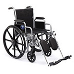 K1 Basic Wheelchair, Fixed Armrests, Elevating Leg Rests