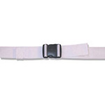 Spineboard Straps, Plastic Side Release Buckle, 2 Piece w/ Loop Lock, White, 5 feet