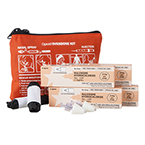 Curaplex Four Dose Opioid Overdose Kit, Red Nylon Case