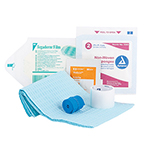 Curaplex IV Start Kit With Tegaderm, Alcohol Prep, 2X2 Sponge, 1 In Clear Tape, LF Tourniquet