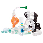 CPAP/Capnography Kit, O2 Max Neb Bitrac ED Mask, Adult LG, w/5-SET Valve and CO2 Sampling Line