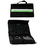 Intubation Case, 14-1/2inch x 8-1/2inch x 2inch, Black w/Green Stripe