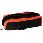 IV Solution and Start Bag w/o Contents, 14inch x 6inch x 3inch, Black w/orange Trim