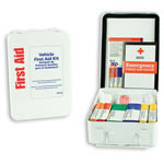Vehicle First Aid Kit, Metal w/Gasket, Wall or Vehicle Mount, w/At-A-Glance First Aid Booklet