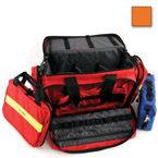 Large Advanced Life Support Case, 22inch L x 14inch W x 11inch H, w/Modules, Orange
