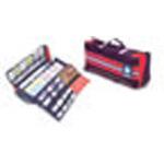 Med Pro XL Medication Kit, 23inch L x 5 1/2inch W x 8inch D, Black/Red
