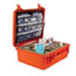 Pro Hard Drug Case w/Lid Insert and Bottom Dividers, 20 1/2inch x 16 3/4inch x 8 1/2inch, Orange