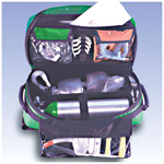 Airway-Pro Kit, Empty, 12inch x 9inch x 23inch, Green w/Black Reflective Strip
