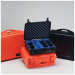 Pelican 1400 Case, 11.81inch x 8.87inch x 5.18inch, Orange w/Pick N Pluck Foam