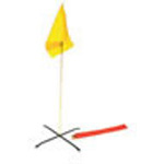 Triage Flag Kit w/Red, Yellow and Green Flag, Poles, US Oxford Nylon, Three Steel Bases, Pouch