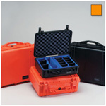Pelican 1520 Case, 18.06inch x 12.89inch x 6.72inch, Orange w/Padded Dividers